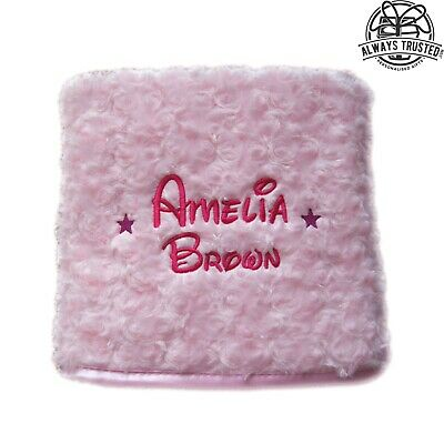 Personalised Baby Blanket Embroidered Soft Fluffy Disney Gift 4