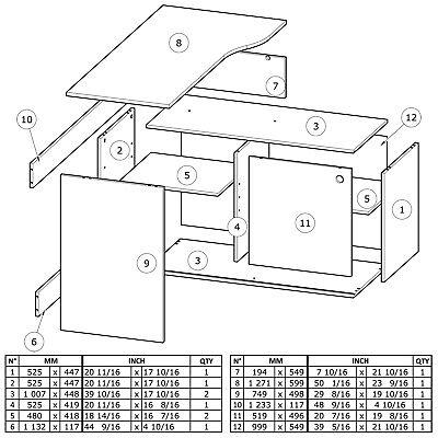 Eck-Schreibtisch WEISS ANTHRAZIT 241 Schiebetür Computertisch PC grau Bürotisch