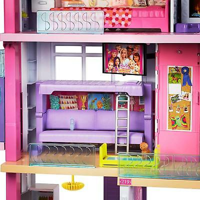 Girls Barbie 3 Storey Doll Dream House Play Set With Furniture New