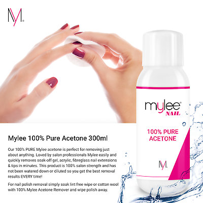 Mylee 100% Pure Acetone Superior Quality Nail Polish Remover UV/LED GEL Soak Off 5