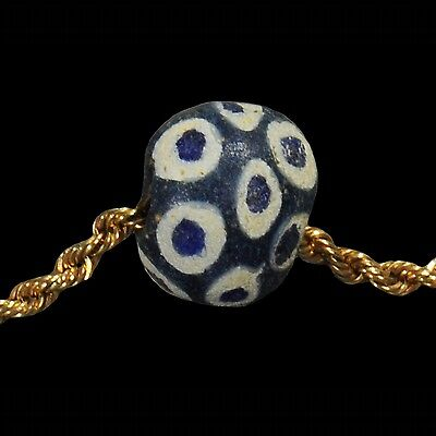 Ancient Eastern Mediterranean  Eye Bead And Gold Necklace 2