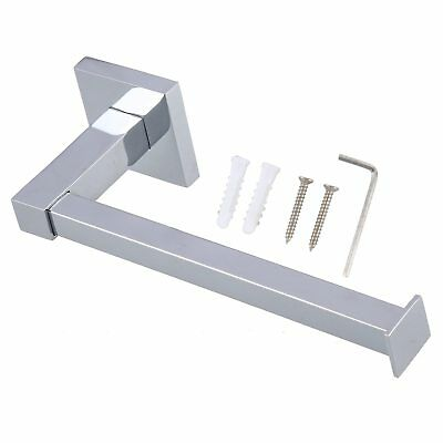 Chrome Modern Bathroom Wall Accessories Square Toilet Roll Paper Holder UKGT 8