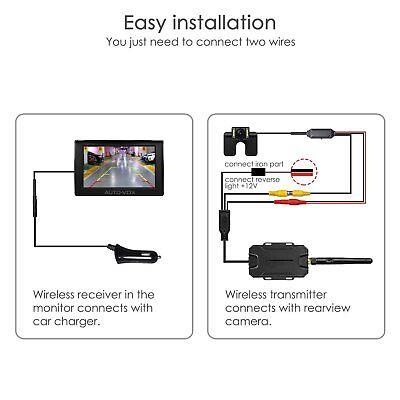 AUTOVOX M1W Wireless Parking Backup Camera + 4.3'' TFT LCD Rear View Monitor 3