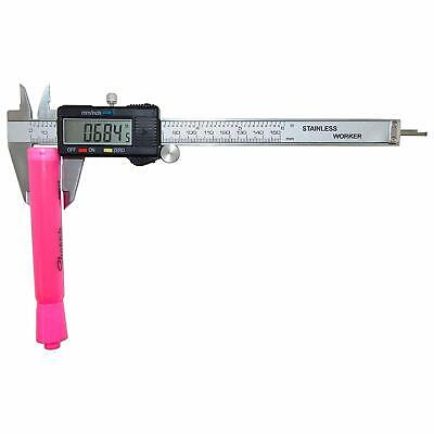 DIGITAL ELECTRONIC CALIPER Vernier Inch Measuring Stainless Steel Micrometer 5