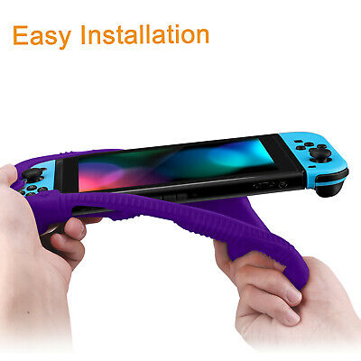 For Nintendo Switch Console Joy-Con Silicone Case Soft Shock Proof Grip Cover 5