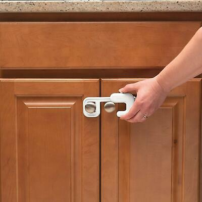 New! 4 pieces (2 packs of 2) of Safety 1st Secure Mount Cabinet Lock white. 4