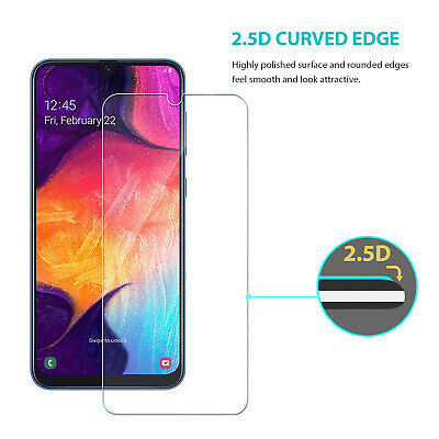 Samsung Galaxy A20 A30 A50 Premium Full Cover Tempered Glass Screen Protector 7
