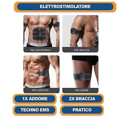 Elettrostimolatore Vers. 2 Per Stimolare I Muscoli Addominali Braccia Gambe 8