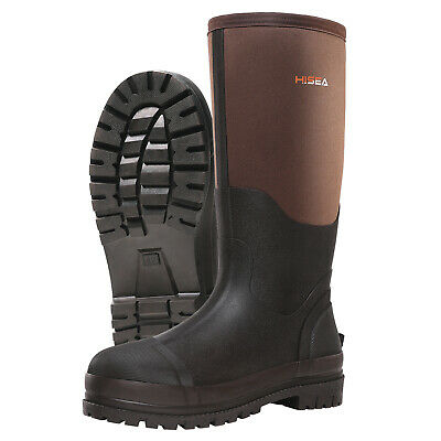 HISEA Men's Muck Work Boots Rubber Neoprene Insulated Breathable Hunting Boots 5