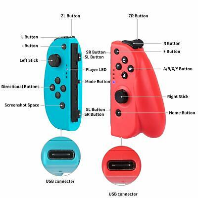 For Nintendo Switch Joy-Con (L/R) Wireless Bluetooth Controllers Set - Neon New 3
