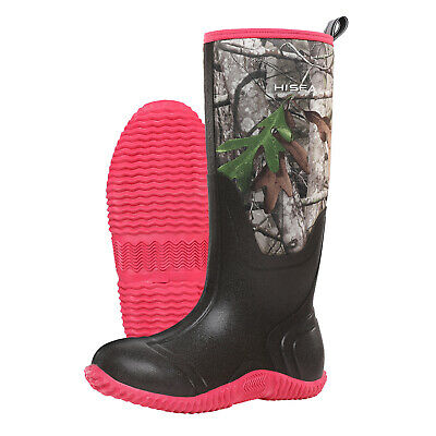 HISEA Women's BREATHABLE Rubber Boots Waterproof Snow & Rain Muck Hunting Boots 9