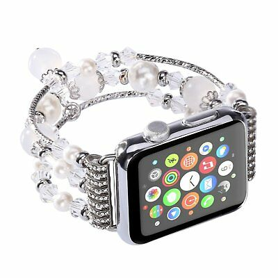 For Apple Watch Series 5 4 44MM Bling Agate Beads Strap Bracelet Band iWatch 2 3 12