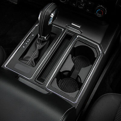 For Ford F-150 2015-2018 ABS Chrome Interior Water Cup Holder Panel Cover Trim