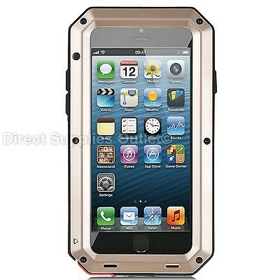 Waterproof Shockproof Metal Aluminum Gorilla Case For iPhone 6 7 8 X XR 5SE PLUS 8