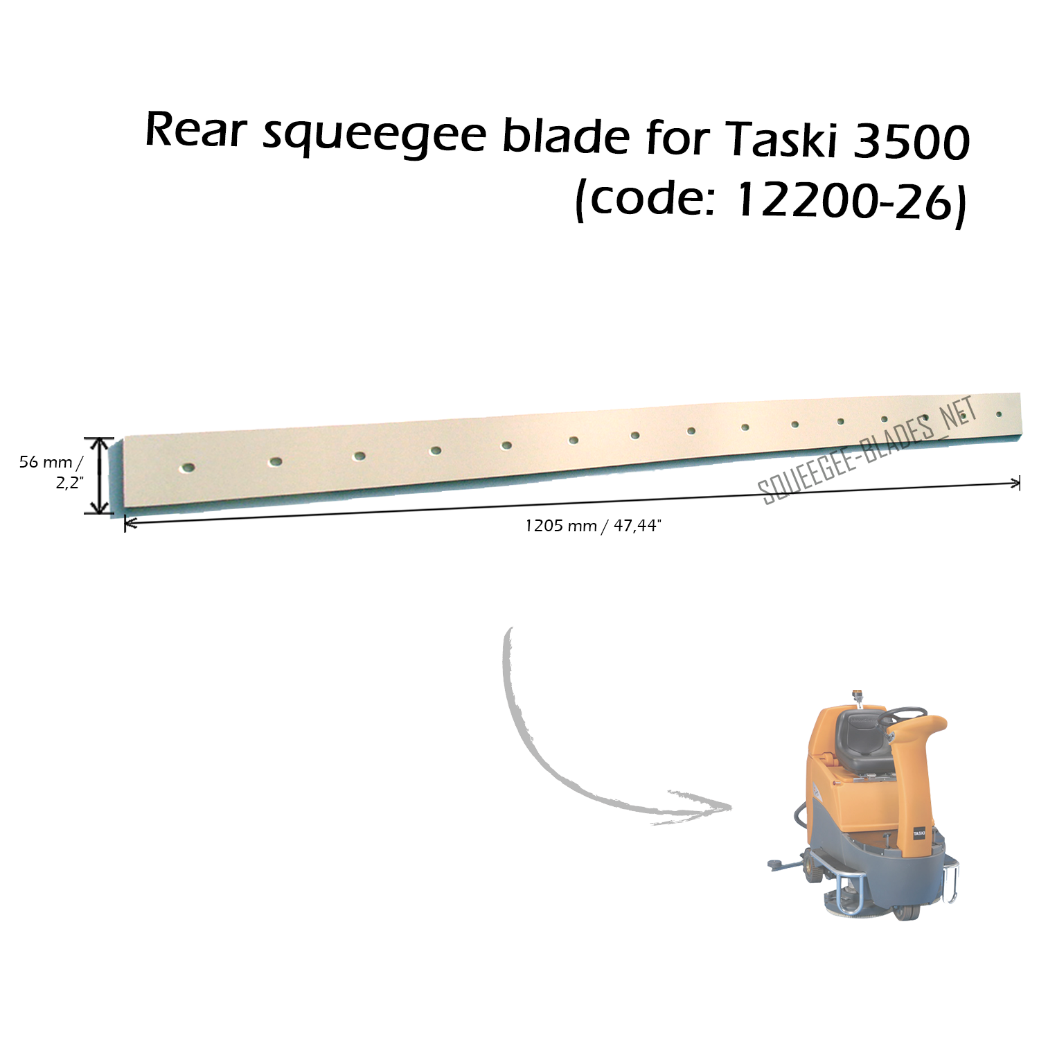 Squeegee blade set for Tennant T300 FREE WORLDWIDE SHIPPING!