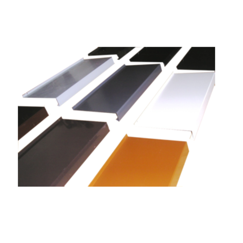 Aluminium Fensterbank Zuschnitt auf Ma/ß Fensterbrett Ausladung 240 mm wei/ß silber dunkelbronze anthrazit