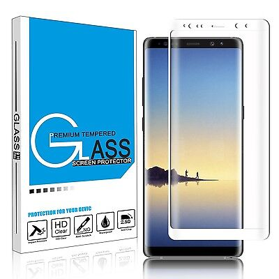 Full Coverage Tempered Glass Screen Protector Samsung Galaxy S7 S8 S9 Note 8 9 2