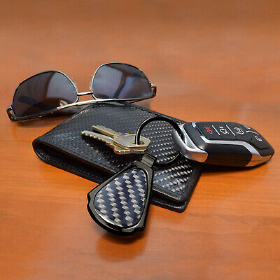 iPick Image for SRT-8 Logo Real Black Carbon Fiber Gunmetal Black Metal Teardrop Key Chain for Dodge Jeep RAM