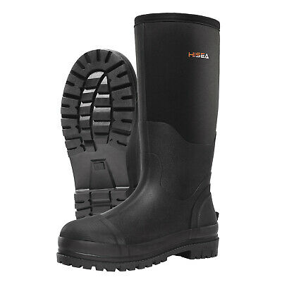 HISEA Men's Muck Work Boots Rubber Neoprene Insulated Breathable Hunting Boots 4