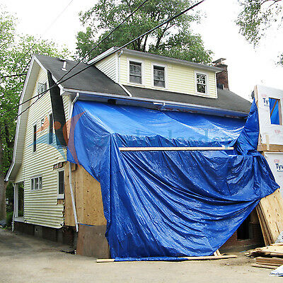 Blue Tarp All Weather Reinforced Tarpaulin Canopy Tent Shelter Cove Car Boat
