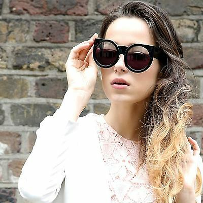 Aviator Oversized Sunglasses  round cat eye oversized sunglasses thick vintage style frame women