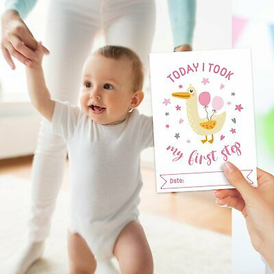 Baby Milestone Cards ~ 1st Year Memorable Moments Girl Girls Age 4