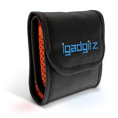 3 Pocket Bag Pouch Holder Storage Case for SLR DSLR Camera Lens Filters 43-77mm 2