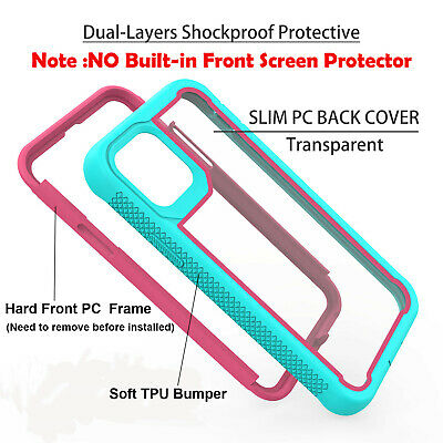 For iPhone 11 Pro Max 2019 Case Hybrid Heavy Duty Shockproof Clear Back Cover 4
