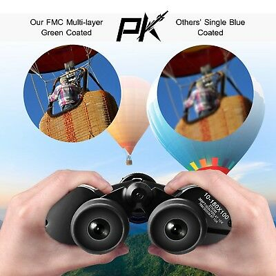 Day/Night 180x100 Military Zoom Powerful Binoculars Optics Hunting Camping+Case 4