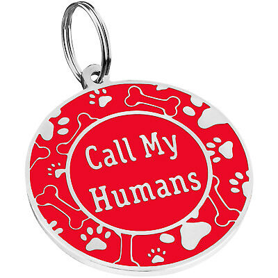 Dog ID Tag Free Custom Personalized Engraved Enamel Pet Puppy Cat Name Charm S L 12