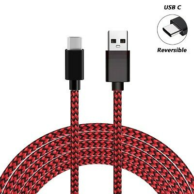 For Samsung S8 S9+ Note9 A5 Type C Data Sync Charger Charging Cable Braided USB 6