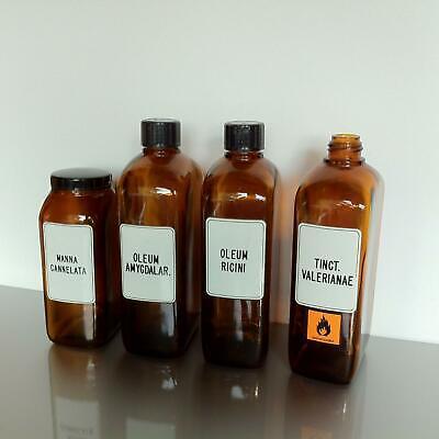 (b50) Braune Schraubgläser Apotheke Arzt Vorrat Tee 1l 1000ml Apothekerflaschen 4