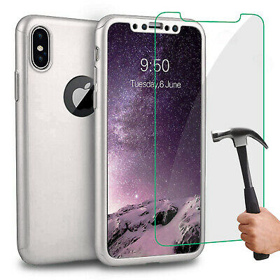 Coque Housse Total 360 Iphone 6 6S 7 8 5 Xr Xs Max Protection Vitre Verre Trempe 8