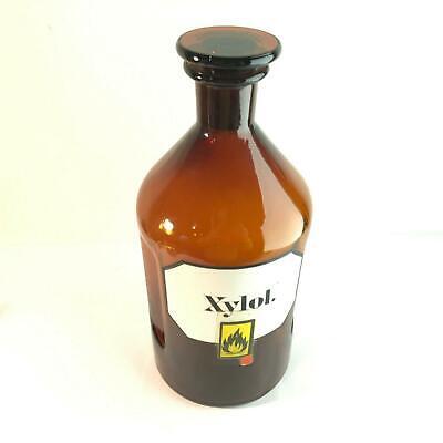 (m121)  2l Liter Flasche Apotheke Labor Stopfen 29 cm 2000ml XYLOL label 2