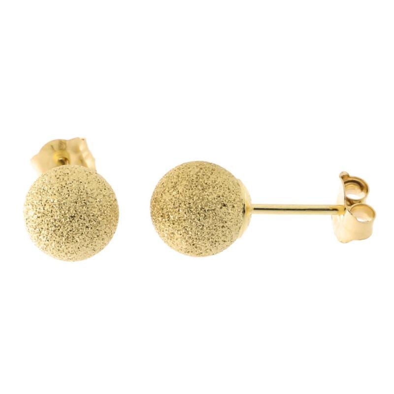 14k 5m Laser Cut Ball Stud Earrings