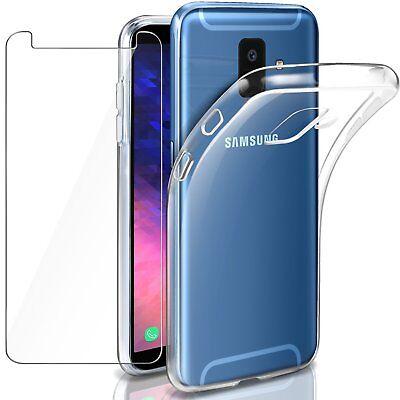 Transparente coque Samsung Galaxy A6/A6Plus 2018+ Verre trempé écran protecteur 9