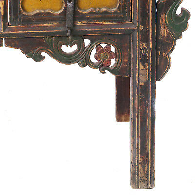 """Antique Chinese Asian 43 """" Wide 3 Drawer Table Coffer Cabinet Vanity 5"""
