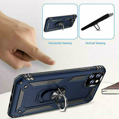 For iPhone XR 7 8 11 Pro Max Shockproof 360 Magnetic Ring Stand Armour Case 5