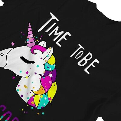 1Tee Womens Time To Be. A Unicorn Magical T-Shirt 3