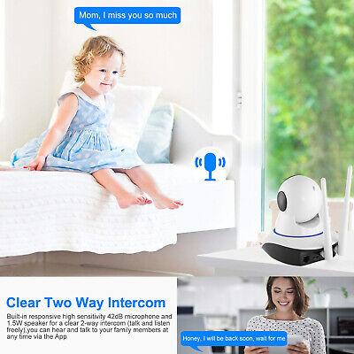 US HD Wireless IP Security Camera Indoor CCTV Home Smart WIFI Baby Monitor 6