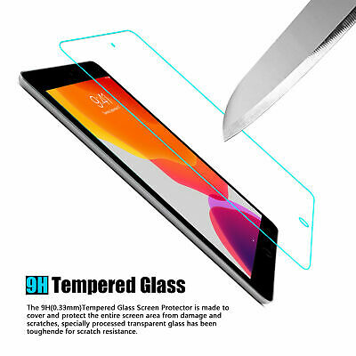 3-Pack Tempered Glass Screen Protector Cover For iPad 10.2 inch 2019 7th Gen HD 4