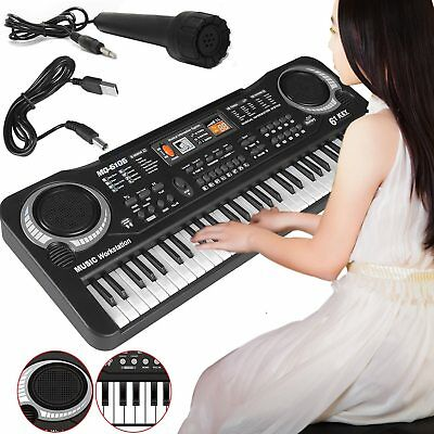 61 Keys Digital Electric Piano Music Electronic Keyboard Organ Mini Microphone 5