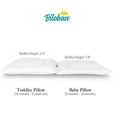 "Baby Newborn Pillow with Cotton Pillowcase Suitable for Infant Toddler 14""x19"" 2"