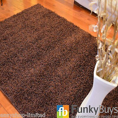 Small Large XL Size Thick Plain Soft Shaggy Rugs Non Shed Modern High Pile 4