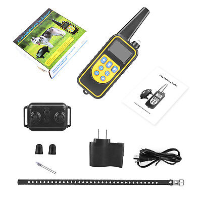 Dog Shock Collar With Remote Waterproof Electric for Large 875 Yard Pet Training 11
