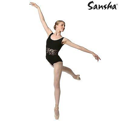 5 = 40 Ballettbekleidung Damen Trikot Carelle  von Sansha schwarz Gr