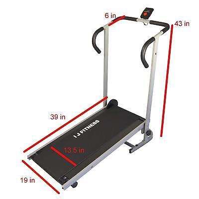 Manual Treadmill Walking Running Cardio Portable Incline Fitness Workout 3