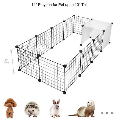 14-Panels Dog Rabbit Pet Playpen Cage Metal Wire Yard Fence for Small Animals 3