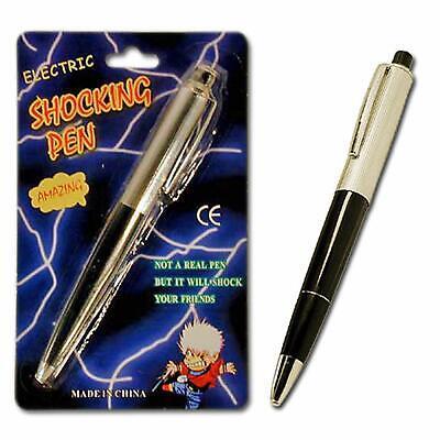 LUPO Electric Shock Pen Gadget Ballpoint Pen Girls Gift Party Bag filler  School
