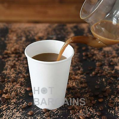 12oz Disposable Single Wall White Paper Cups for Hot Drinks Tea , ECO - FRIENDLY 4